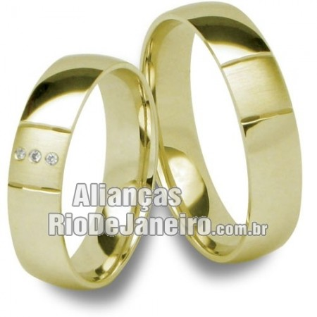 Alianças em ouro 18k 750  Rio de janeiro