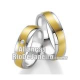 Alianças de ouro 18k e prata Rj