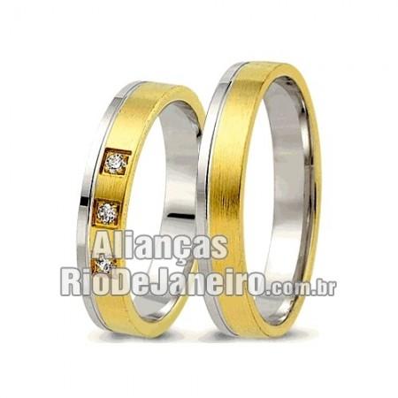 Alianças  de noivado e casamento ouro 18k e prata  Rio de janeiro