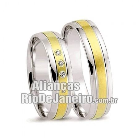 Alianças  de noivado e casamento ouro 18k e prata  Rj