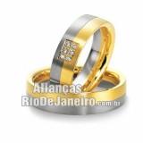 Aliança de noivado em ouro 18K Rj