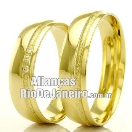 Alianças Rio de janeiro em ouro para casamento.