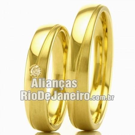Alianças em ouro para casamento e noivado Rj