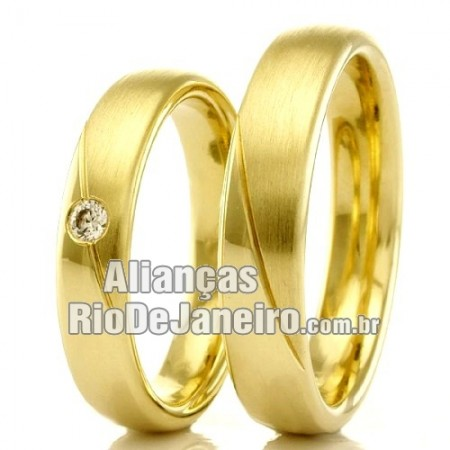 Alianças  em ouro para casamento Rio de Janeiro