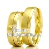 Alianças Rj em ouro 18k