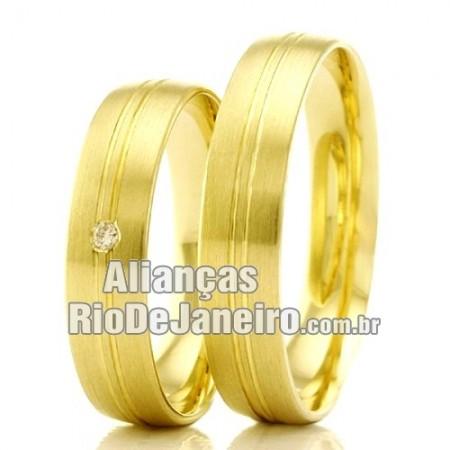 Alianças Rio de Janeiro em ouro 18k para noivado