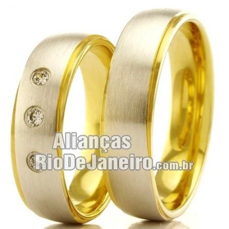 Alianças Rio de Janeiro  em ouro 18k 750
