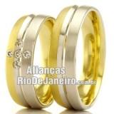 Alianças  Rio de Janeiro em ouro 18k